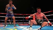 Frankie Gavin is knocked down by Sam Eggington