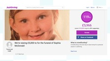 Fundraising target beaten for seven-year-old girl's funeral