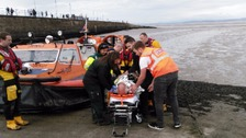 Morecambe RNLI team come to the aid of an elderly angler