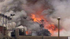 Firefighting continues at Seaforth Docks