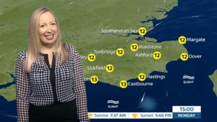 Monday's weather for the east with Philippa