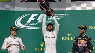 Lewis Hamilton wins US Formula One Grand Prix
