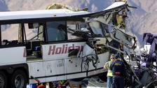 At least 13 dead and 31 injured in California bus crash