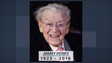 Jimmy Perry, who has died at the age of 93.