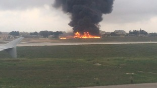 Plane crash in Malta