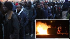 Mass eviction of Calais 'Jungle' camp begins after night of unrest