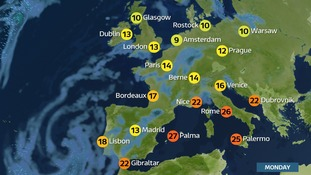 How do our temperatures compare with Europe this half term?