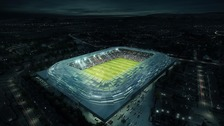 Proposed plans for the new Casement Park stadium.