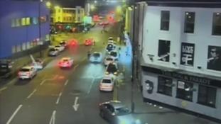 Shocking CCTV of driver who killed his teenage passenger