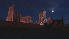 Whitby Abbey halloween illuminations begin