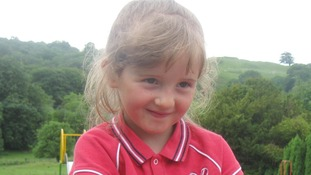 Five-year-old April Jones who was abducted while out playing near her home in Machynlleth, Mid Wales last month.
