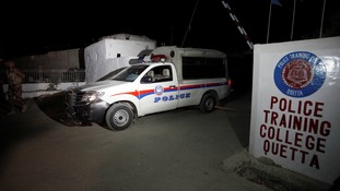 Gunmen 'kill at least 50' in attack on police training centre in Pakistan