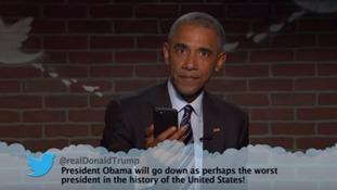 Barack Obama trolls Donald Trump on Jimmy Kimmel's mean tweets