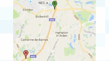 One lane is blocked due to accident on M42