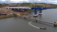 The new Wear Crossing in Sunderland is half way through