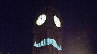 Ding Dong - Big Ben cuts a dash with a 'tache for Movember