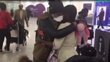 Sick mum's sister arrives in the UK to save her life