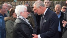 Tribute left by Prince Charles at Aberfan memorial stolen