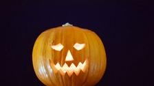 A pumpkin on Halloween