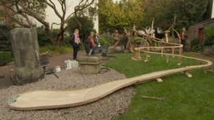Sculpture unveiled to reconnect people with Cumbrian rivers