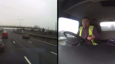 Man jailed for using mobile while at wheel of HGV lorry.