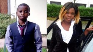 14-year-old Bonheur Musangay and 17-year-old Stella Kambi