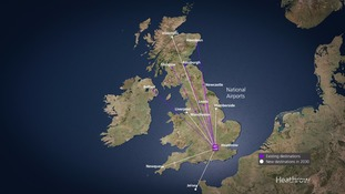 Heathrow projects the airport expansion will create six new regional routes by 2030.