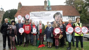 Protesters in Harmondsworth hit out at Theresa May's u-turn over the third runway.