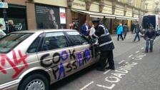 Alan Partridge's car gets a ticket
