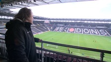 Pete Winkelman at stadium:mk today.
