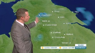 Early morning weather forecast with James Wright