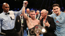 Carl Frampton took the WBA featherweight title after defeating Leo Santa Cruz in July.