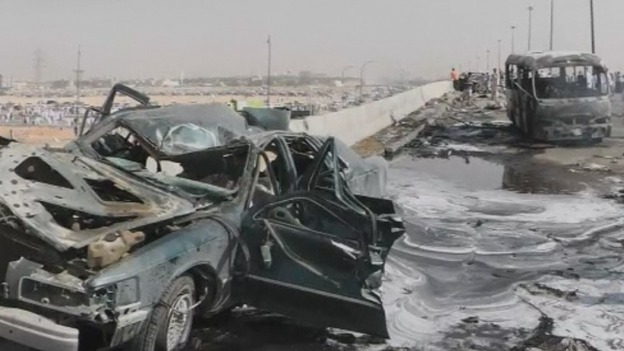 Fuel track crash aftermath