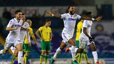 Leeds United celebrate their win.
