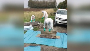 Asbestos fly-tipped in Lincolnshire