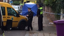 The road was closed while forensic teams examined the scene.