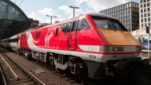 Virgin East Coast train at London's King's Cross station
