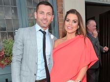 Former Manchester United defender Phil Bardsley and wife Tanya.