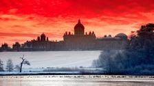 Sunrise over Castle Howard