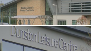 The swimming pools at Blaydon and Dunston Leisure Centres