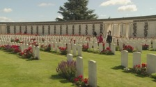 Tyne Cot Cemetery, in Belgium, named after the Northumberland Fusiliers in WW1, who called a nearby German pillbox 'Tyne Cottage'