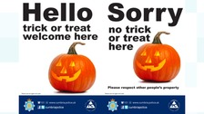 Police offer anti-trick or treat posters