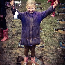 Melanie Mills triumphed in the World Puddle Jumping Championship.