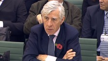 Former Foreign Secretary Jack Straw fielded questions on Wednesday.