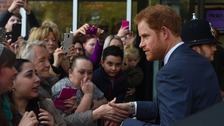 Prince Harry draws the crowds in Nottingham