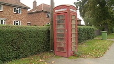 Telephone box in Tunstead in Norfolk
