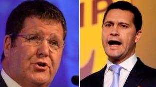 Yorkshire UKIP MEP Mike Hookem (left) and Steven Woolfe.
