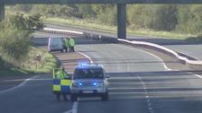 M1 motorway murder scene