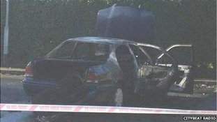 A car apparently used in the attack