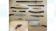 A selection of the weapons handed in during Cleveland Police's amnesty